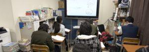 中学生の一斉授業の様子